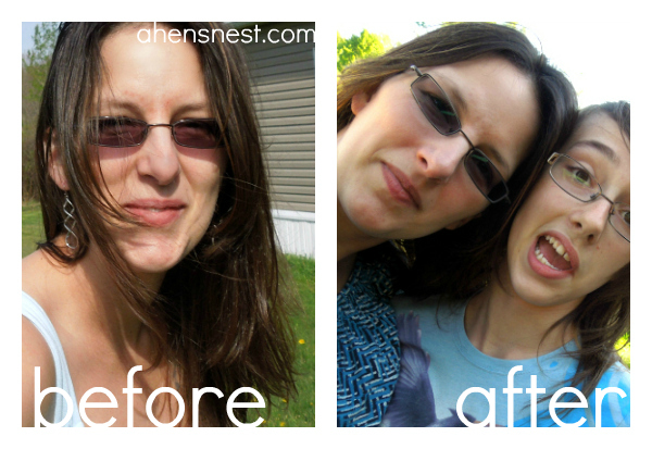 before and after photo with eclos skincare