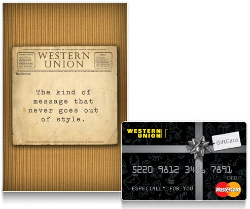 Western Union gift and greeting cards simplify gift giving!