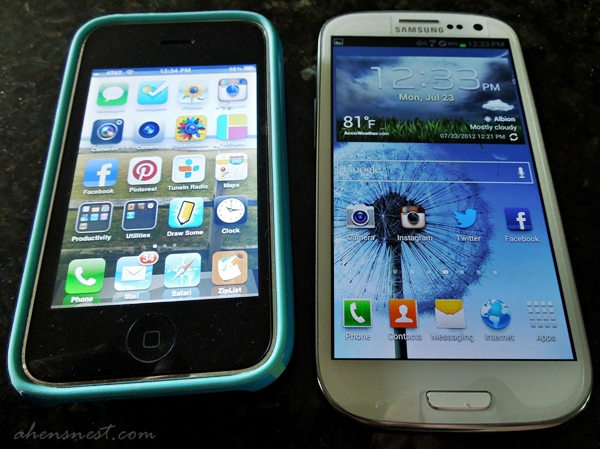 galaxy s3 size and screen compared to iphone 3gs