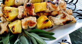 Grilled Pineapple Chicken Kebabs – A light Nakano #recipe
