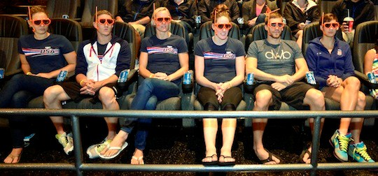 us swim team advance screening of finding nemo 3d