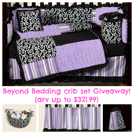 Lovely Beyond Bedding crib set giveaway