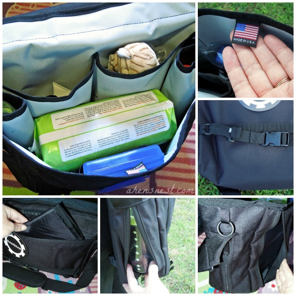 DadGear Maori Night Diaper Bag functions well