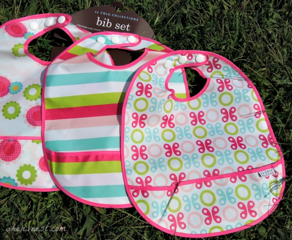 JJ Cole Collections diaper pods, bottle pods + bib set #babygifts