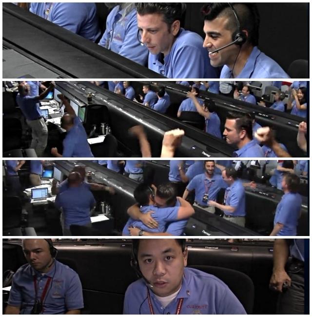 NASA Curiosity landing
