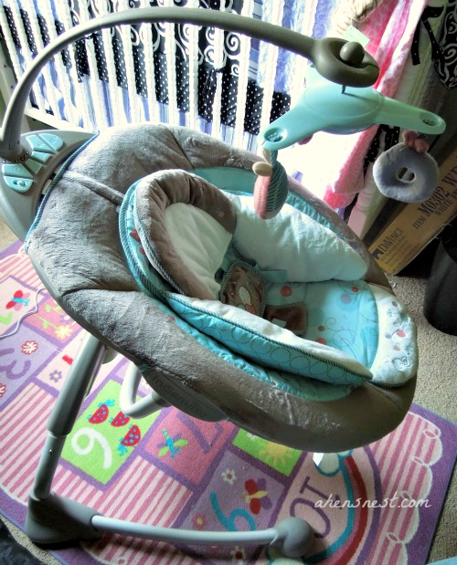 InGenuity Cozy Coo Sway Seat – baby swing review #babygifts