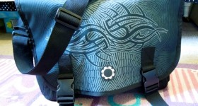Maori Night DadGear messenger diaper bag for guys