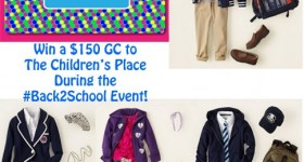 Win a $150 gift card to The Children's Place #back2school