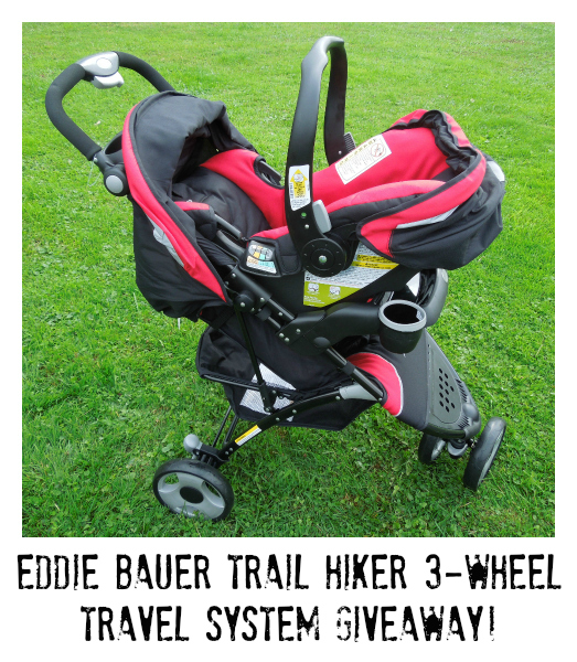 Eddie Bauer 3-wheel travel system giveaway