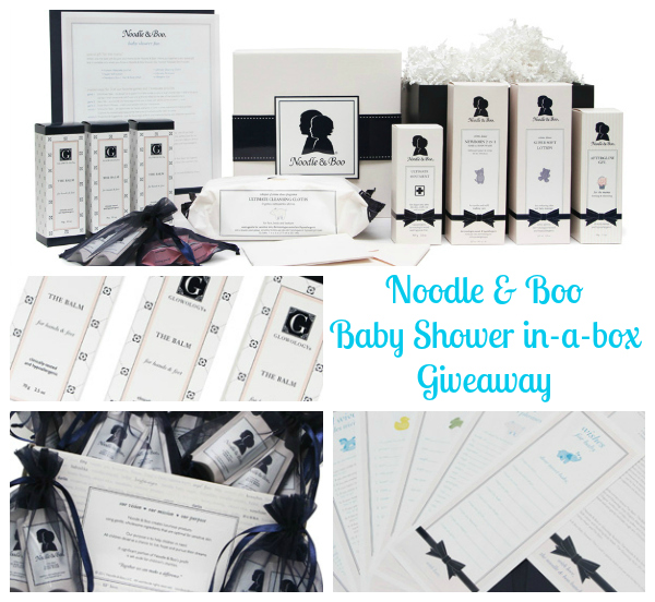 Noodle & Boo baby shower in a box giveaway