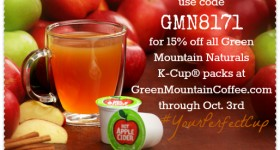 Fall Treats: Green Mountain Hot Apple Cider K-Cup #YourPerfectCup