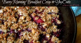 Berry Morning Breakfast Crisp Recipe! #YayOats