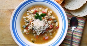 Celebrate World Pasta Day with Barilla Ditalini & White Bean Soup!