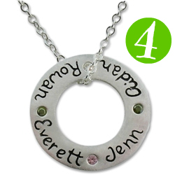 Isabelle Grace Jewelry Circle of Love personalized necklace