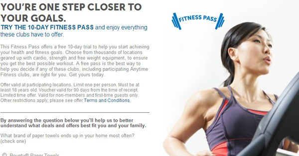 free fitness pass shared values scott