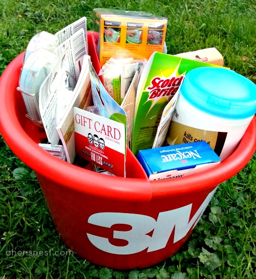 Pep Boys & 3M bucket of goodies
