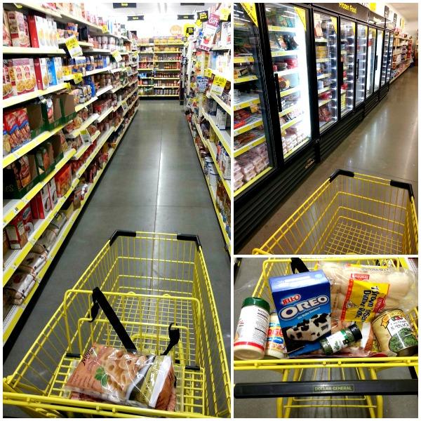 Dollar General grocery shopping