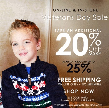 Hartstrings Veterans Day Sale