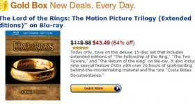 Amazon Gold Box Deal: The Lord of the Rings Trilogy – Extended Deluxe 15 Disc Blu-ray set