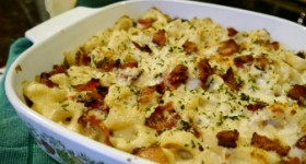 Dollar General Inspired Recipe: Bacon and Spinach Tortellini Bake