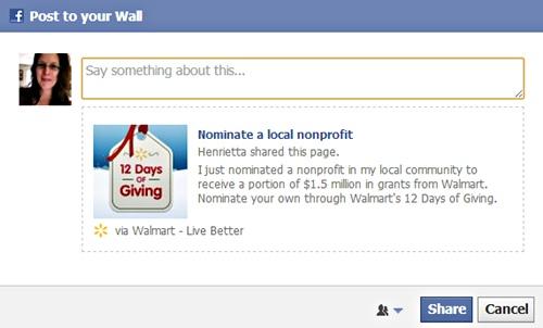 nominate a local non profit and share