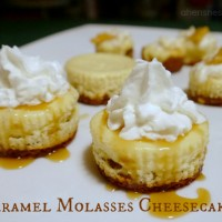 Caramel Molasses Cheesecakes
