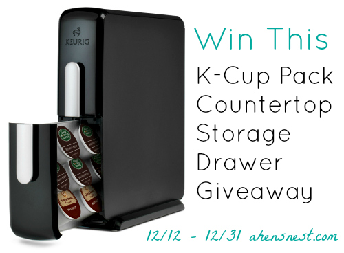 K-Cup Pack Countertop Storage Drawer giveaway