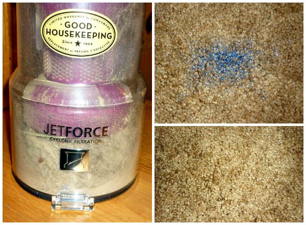 Panasonic vacuum picks up glitter