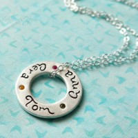 circle of love necklace by isabelle grace