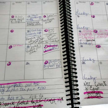 messy blog planner