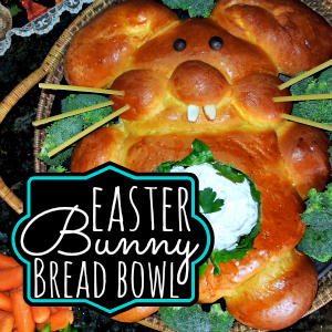 How to make a Bunny Bread Bowl For Veggie and dip tray