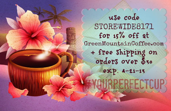 GreenMountainCoffee april promo code