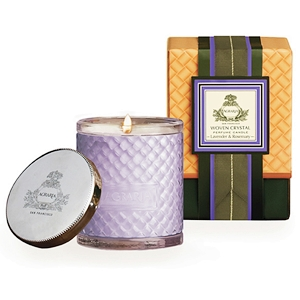 Agraria Lavender Rosemary Woven Crystal Candle