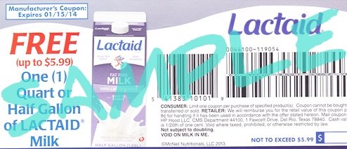 Lactaid Coupon Giveaway