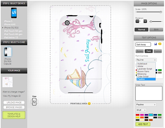 design a custom iphone case