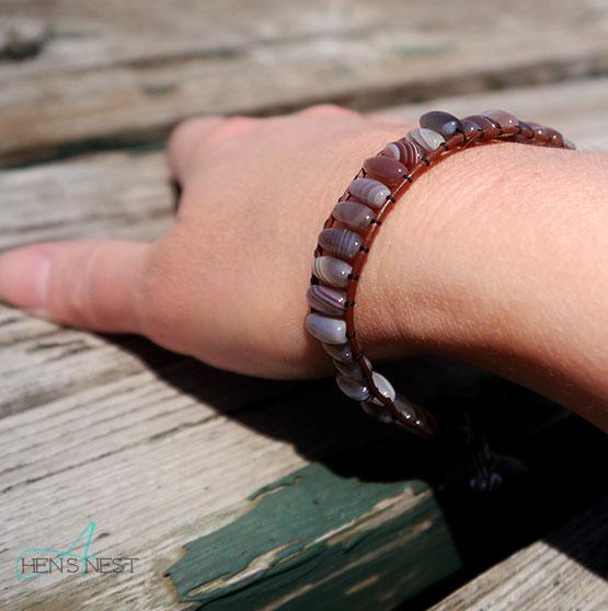 novica agate wristband bracelet