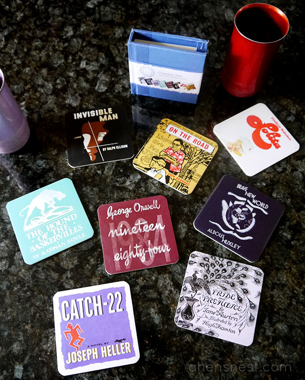 out of print coaster set