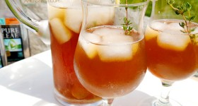 peachy ginger thyme tea mocktail recipe pure leaf