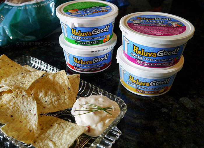 Heluva Good! Greek Yogurt Style Dip and chips