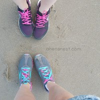 Reebok shoes beach