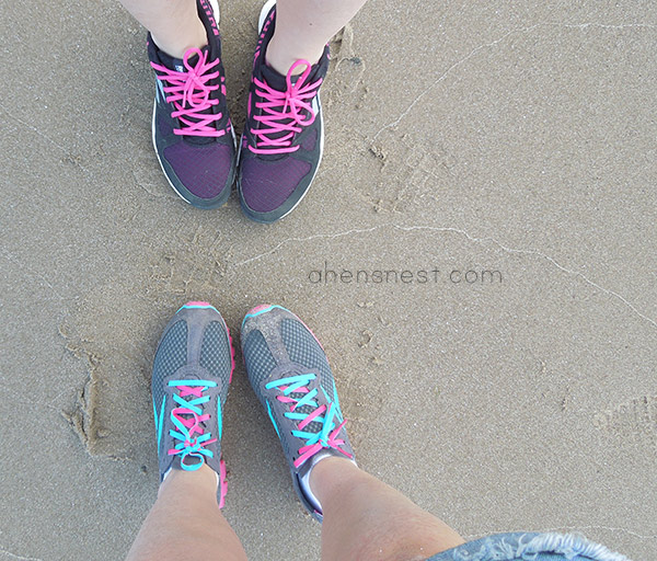 Reebok Realflex Run running shoes at the beach