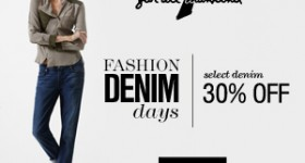 Fashion Denim Days: 30% Off Select Denim for Women's, Men's and Kids + FREE Shipping!