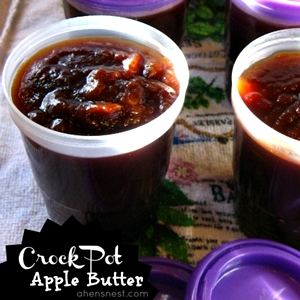 Spiced Apple Butter in Slow Cooker @ahensnest