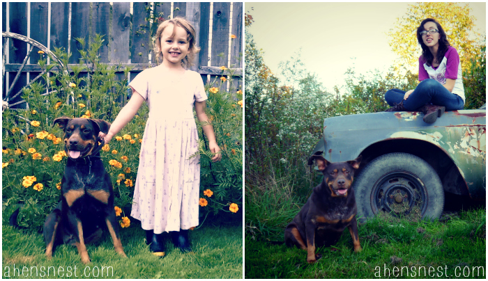 past-present-daughter-dog-growing-up