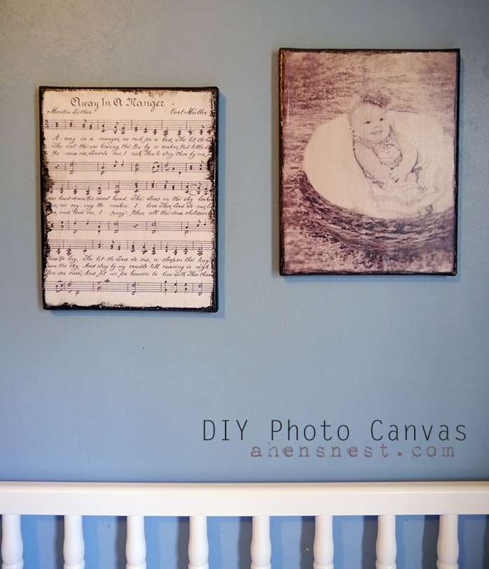 DIY Photo Canvas decoupage