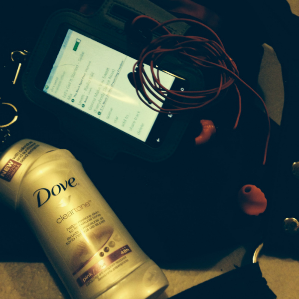 Dove Clear Tone Deodorant gym bag