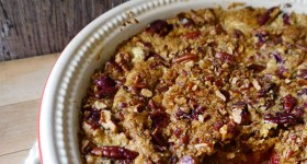 Cranberry Pumpkin Crunch Dessert : Baking with #PAMSmartTips
