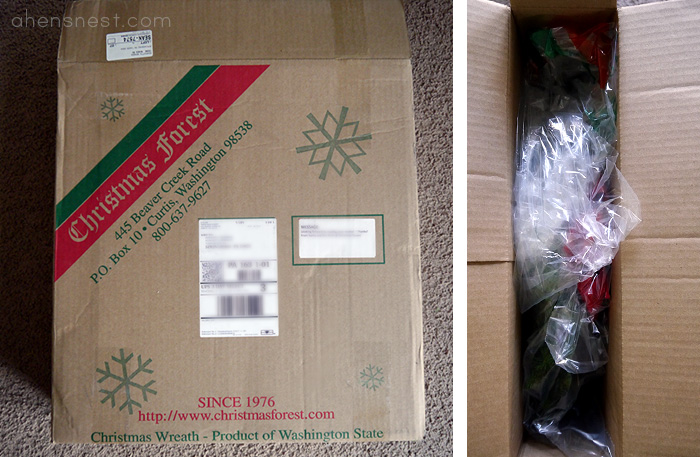 christmas-forest wreath packaging