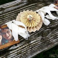 paper burlap photo garland decoration