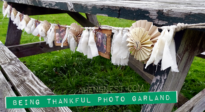 paper burlap photo garland